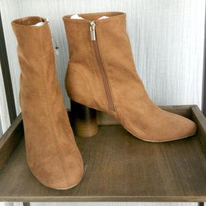 forever 21 suede boots cylinder heel